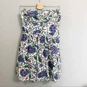 Jack Wills strapless cotton floral dress